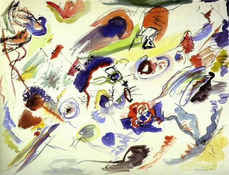 Wassily Kandinsky, First Abstract Watercolour: 1910, Abstract Watercolor, Abstract Art, Watercolors, Abstract Watercolour, Acuarela Abstracta, Abstract Paintings, Aquarelle Abstraite, Wassily Kandinsky
