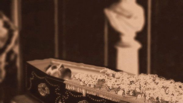 Abraham lincoln in casket rare photograph more