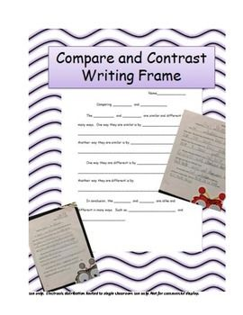 compare and contrast 3 things Compare and contrast • the venn diagram allows students to see how two things are alike and how they are different • a student could use a venn diagram to write a comparison/contrast essay by simply using the three sections of the.