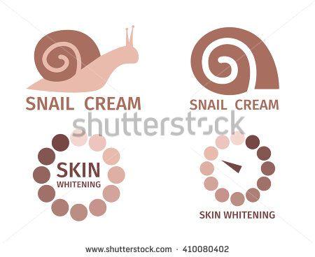 snail white logo , skin logo