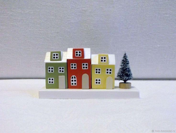 Купить Домики, миниатюра, новогодний декор в интернет магазине на Ярмарке Мастеров