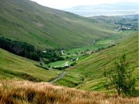 Glengesh Pass, between Glengesh and Mulmosog mountains, with views of  Loughros Beg Bay, on the road between Glencolmcille and Ardara, County Donegal, Ireland