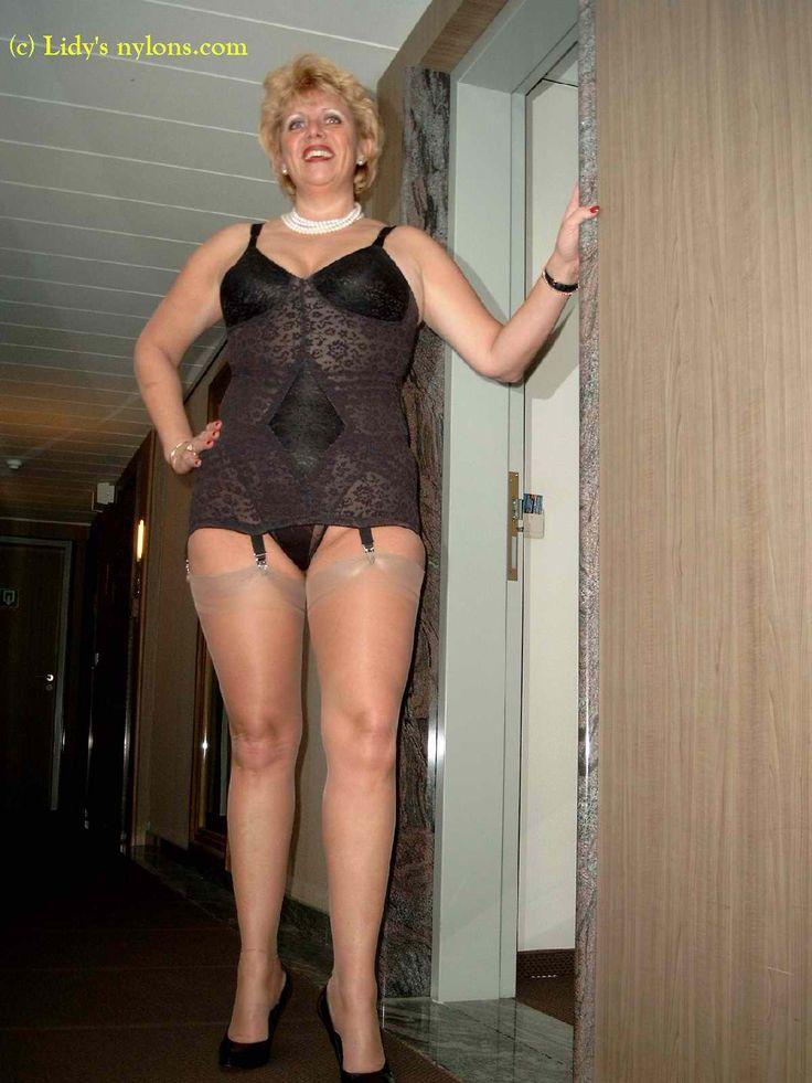 NylonsAddicted  NylonsSilkBeautiful  Bra lingerie Vintage lingerie Vintage girdle