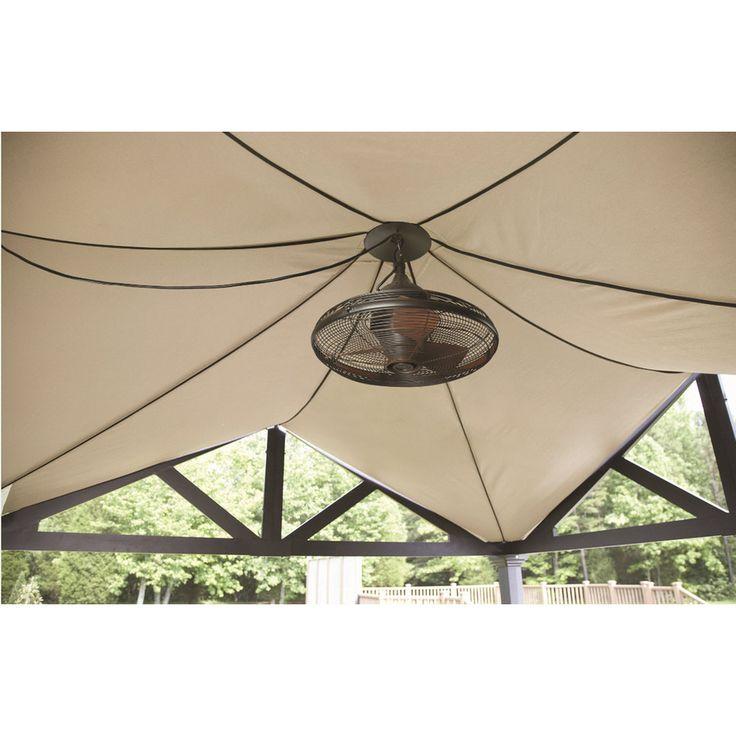 Allen Roth Valdosta 20 In Oil Rubbed Bronze Outdoor Downrod Mount Ceiling Fan