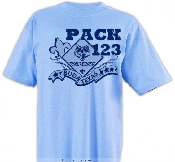 Pack Star Banner Shirt Cub Scout Pack Design Sp1996
