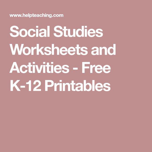 Social Studies Worksheets and Activities - Free K-12 Printables