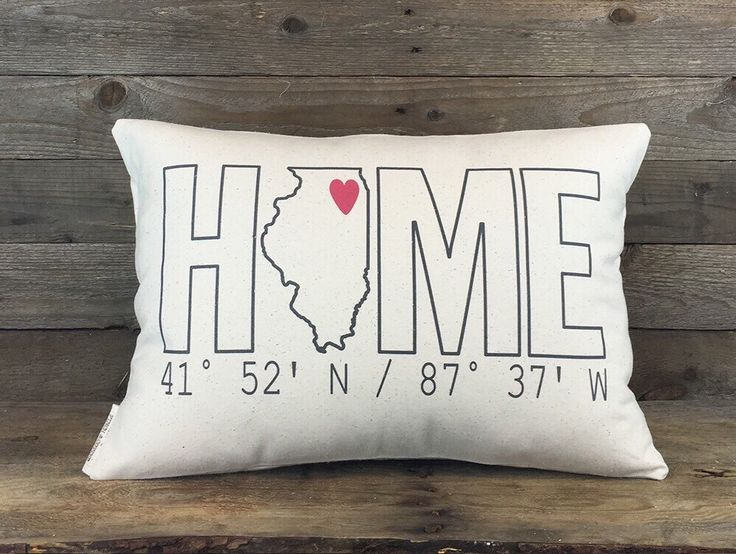 Home Coordinates State Pillow, Custom Pillow, Housewarming Gift, Personalized Gift, Dorm Decor, Throw Pillow, Housewarming Pillow by FinchandCotter on Etsy https://www.etsy.com/listing/220693307/home-coordinates-state-pillow-custom