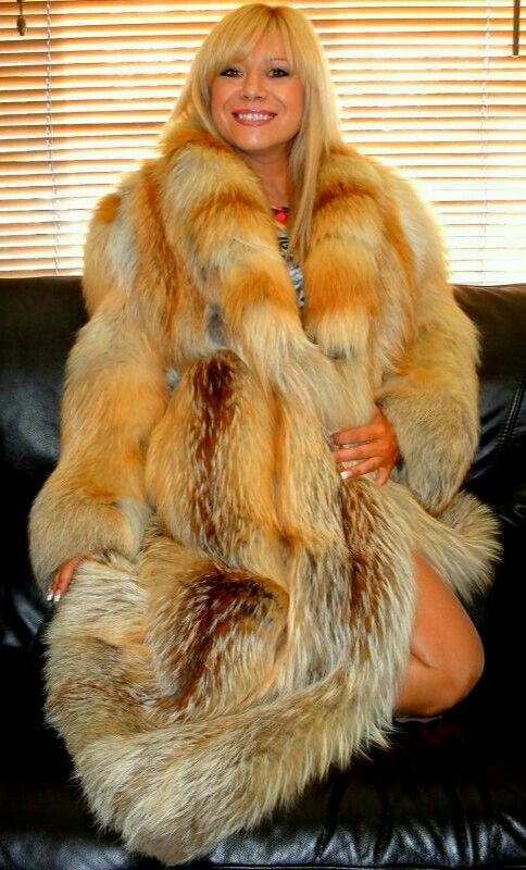 Red fox fur coat Miss Larissa! | Miss Larissa