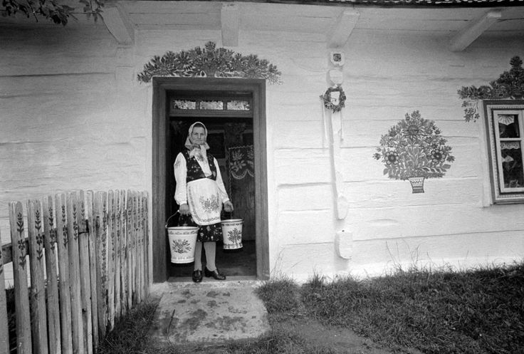 Zalipie, Poland.  Portraits taken in various Polish villages around the turn of 1970s/1980s by Zofia Rydet.