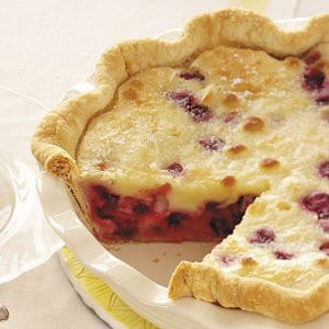 Sour Cream Cherry Pie- new way to use the multitude of cherries from Mom's tree!