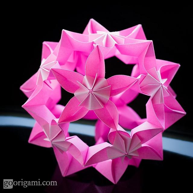 308 best kusudamas images on pinterest modular origami origami concave flower hat ball by credovsegda via flickr mightylinksfo