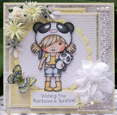 A Sprinkling of Glitter Blog for LaLaLand Stamps - Wishing You Rainbows & Sunshine