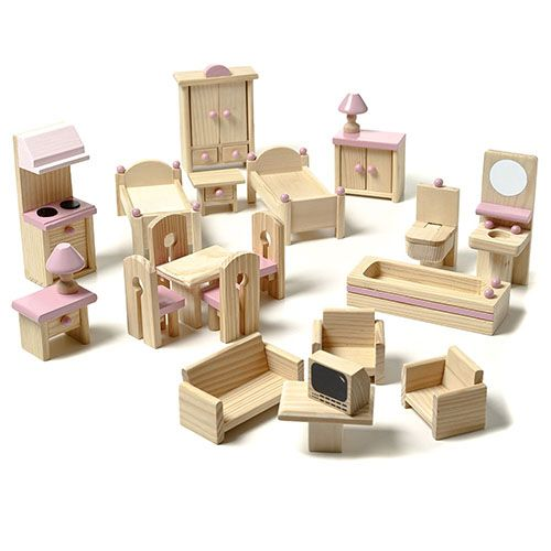 Heidi Dolls House 22 Piece Furniture Set