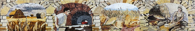 village life marble mosaic by Phoenician Arts, via Flickr