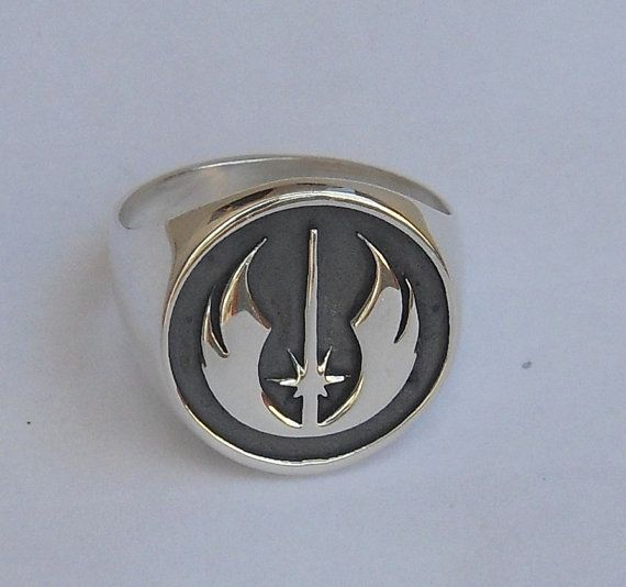 Star Wars Jedi Order Insignia on wood Rebel Ring by vikigreen