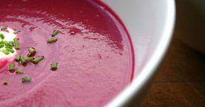 Rezept für gesunde Rote-Rüben-Suppe. Suppe aus roten Rüben einfach selber machen!