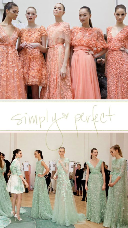 Peach and Mint Bridesmaid Dresses