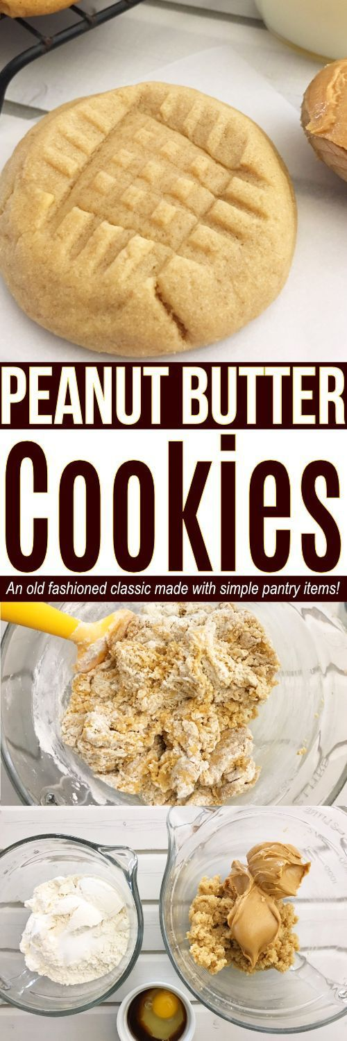Looking for the best Peanut Butter cookies recipe? These easy Peanut Butter cookies are a classic! The list of ingredients for Peanut Butter cookies including simple everyday pantry items to make these easy cookies!  #cookies #dessert #peanutbutter #recipe #easyrecipe