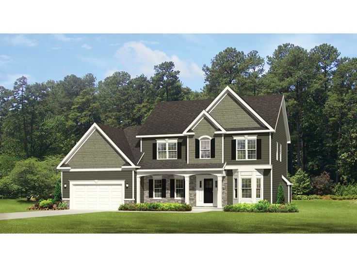 Home Plan HOMEPW77055 is a gorgeous 2300 sq ft, 2 story, 4 bedroom, 2 bathroom plan influenced by Traditional style architecture.