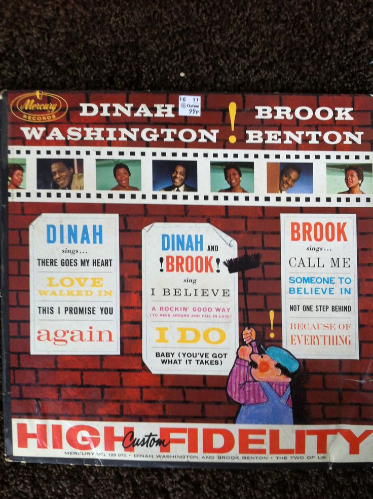 Dinah Washington and Brook Benton Vinyl LP cover