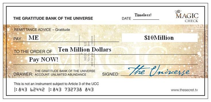 'The 10 Million Dollar Blessing' Miracle! I decree that those who desire it, receive it! Want to use the 'formula' yourself? Go to the website here. Kind regards