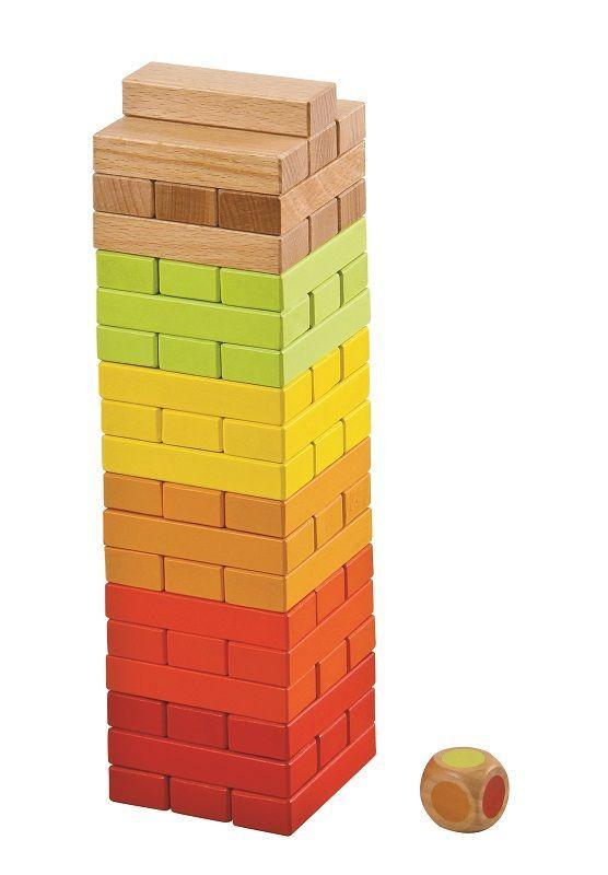 #Jenga gra towarzyska z drewna firmy Lelin super zabawki drewniane na www.kidsabc.pl