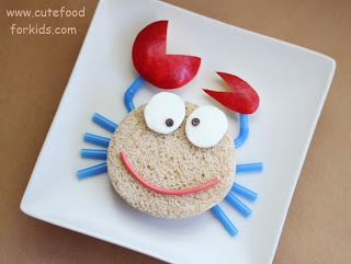 Cute Food For Kids?: Play with your sandwich: Transform a crab into spider