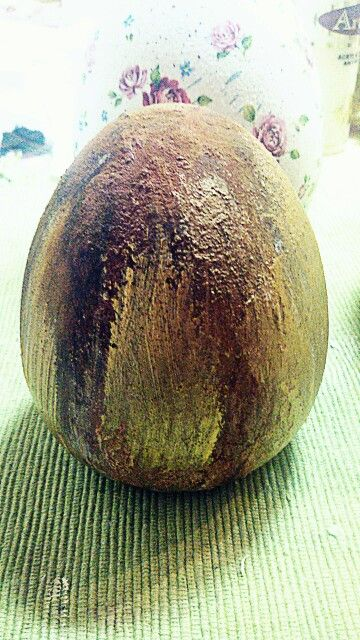 Rusty easter egg vintage ceramic