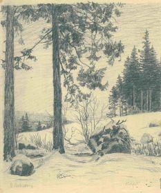 paul leschhorn | 00000000 - 7644 - Paul Leschhorn - Waldrand im Schnee.jpg