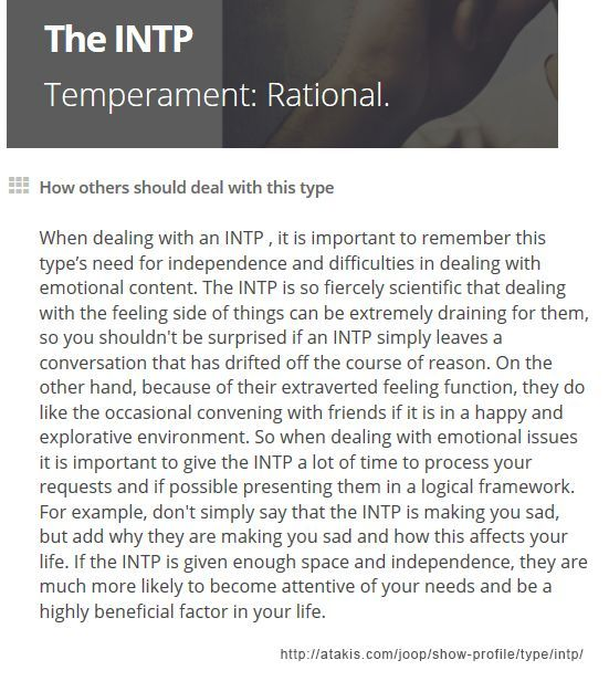 Types Personalities Beyond: INTP: So Accurate On How I Deal With Feelings