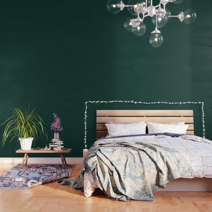 Art Deco On Emerald Green Spoonflower Green Accent Walls Gold Bedroom Decor Green Decor