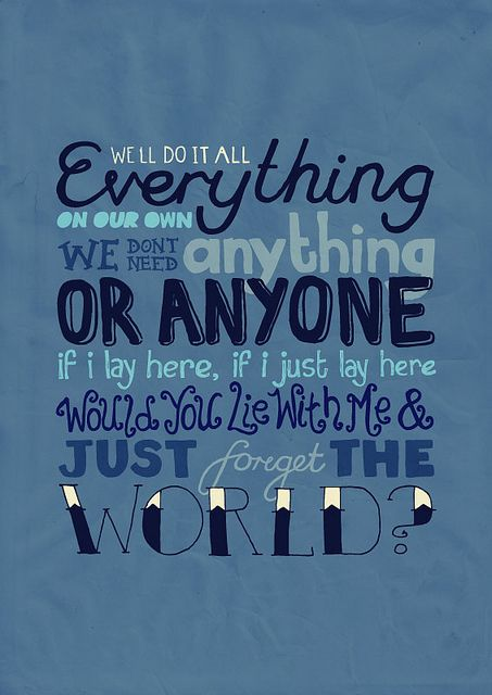 Chasing Cars by Snow Patrol.