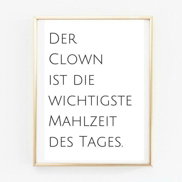 Digitaldruck – Poster A4 Clown. Küchenposter – ein Designerstück von Pap-Selig…