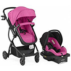 Stroller Travel System Convertible 4-in-1 Reversible Seat Toddler Baby Car Seat Purple