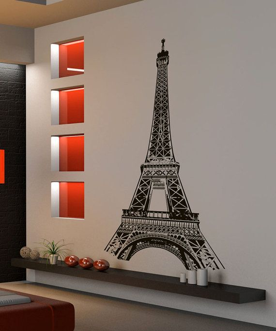 Vinyl Wall Decal Sticker Paris France Eiffel Tower By Stickerbrand, $49.95