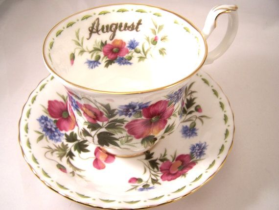 Royal Albert  Flower of the month August cup and by Cupsofthepast, $24.95
