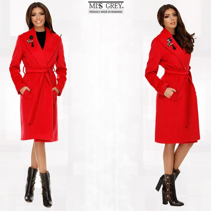 Do you want to impress with a chic and elegant outfit? Wear the new red Cezara coat that will give you a feminine and refined look. Discover it in our online shop