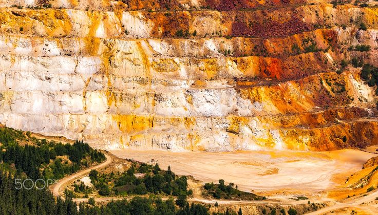 Belly of the beast - The open pit in Calimani Mountains was the largest open sulphur mine in Europe. It is hard to describe how shocking it is to see such majestic mountains torn open, effectively brought to their knees.