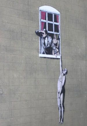Banksy: This one always makes me chuckle...