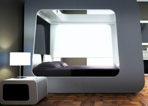 futuristic bedroom http://decoholic.org/2013/07/29/26-futuristic-bedroom-designs/