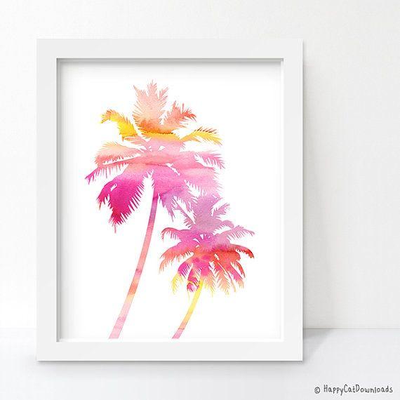 Palm Tree Decor Beach Decor Tropical Decor by HappyCatDownloads