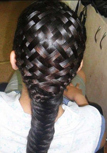basket weave braids for kids