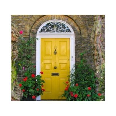 front door color - Sherwin Williams, Gambol Gold