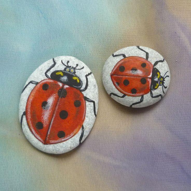 Images Of Rocks Painted Like Ladybugs