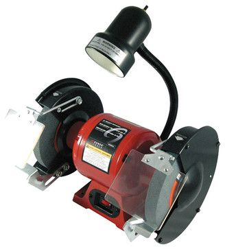 """Sunex Tools 8"""" Bench Grinder With Light modern-power-tools"""
