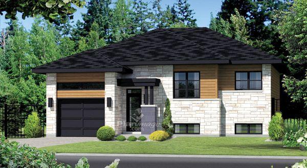planimage avec son porche en retrait aux colonnes pur es et son parement de pierres et de. Black Bedroom Furniture Sets. Home Design Ideas