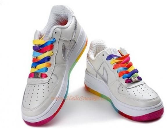 318275 101 Nike Air Force 1 GS Pearl White Rainbow Outsole cheap Nike Air  Force 1 Low Women, If you want to look 318275 101 Nike Air Force 1 GS Pearl  White ...