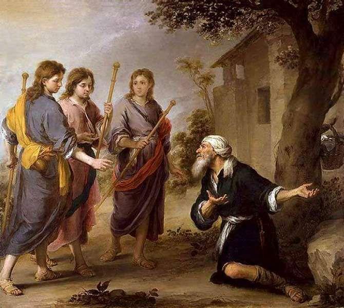 Бартоломео Эстебан Мурильо - Авраам и три ангела