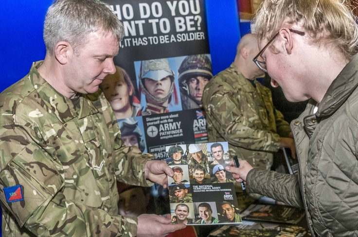 Taking interest in Army opportunities.  Click here for more information about jobs and training opportunities.