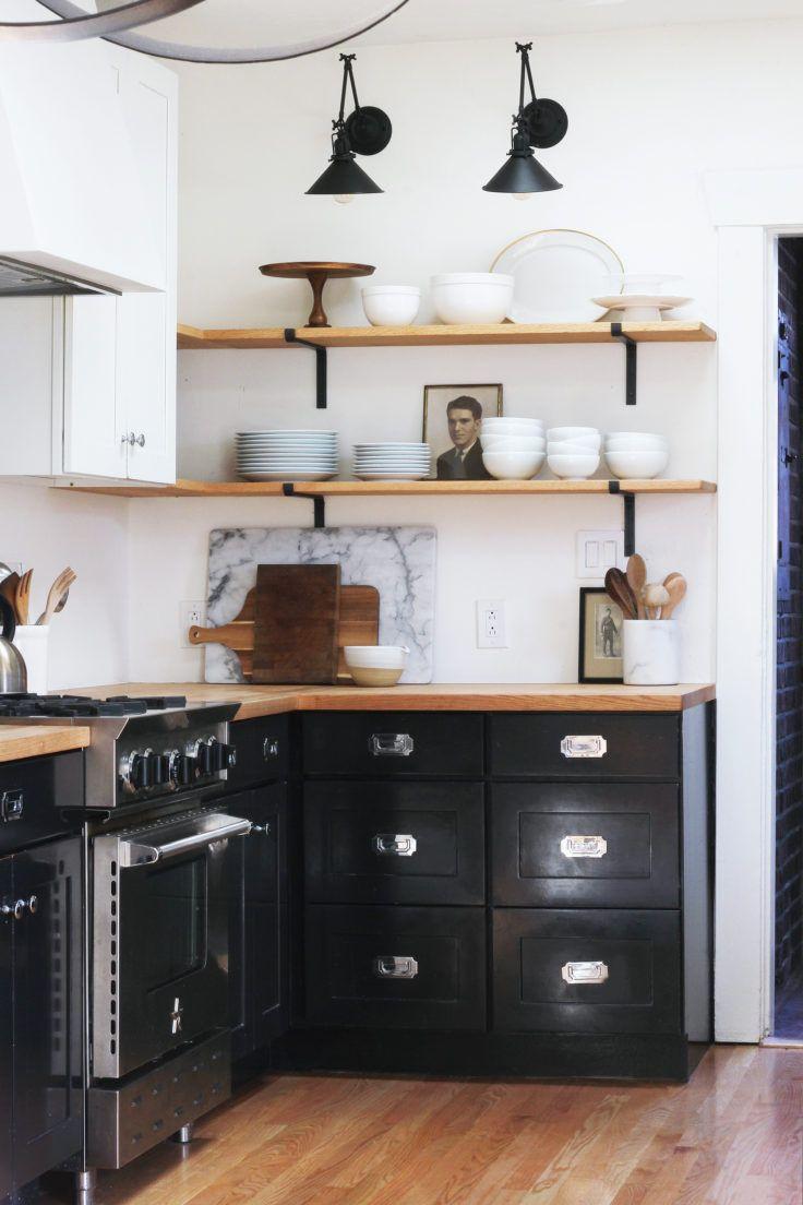 black and white kitchen black kitchen two tone kitchen open rh pinterest co uk